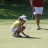 Meg lines up par putt at Glascow Tournament